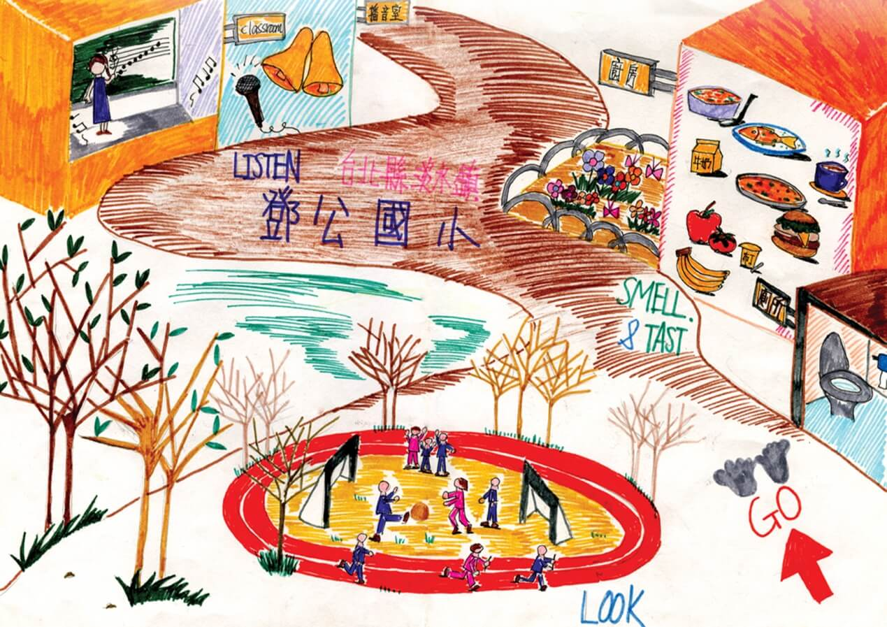 小朋友所畫的鄧公五感的圖