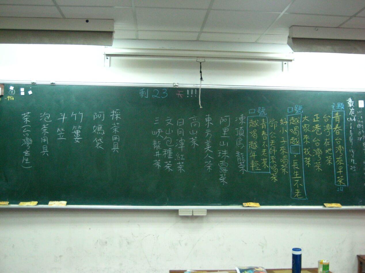 孩子在黑板上的討論記錄